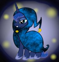 Princess Luna in a cape. by jazzy-rose-hxc