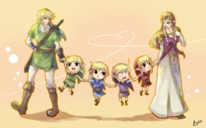 LoZ - One big happy... by Miyukiko