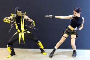 Lara Croft and Scorpion - Igromir'12 by TanyaCroft