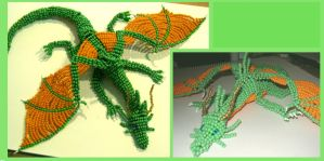 Green bead dragon by Niicchan