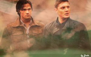 Sam and Dean Winchester wall2 by monkeyJade