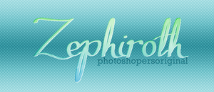 +Zephiroth font | Photoshopers by Karitol89