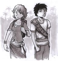 Girl and guy sketch by jjnaas
