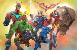 Avengers, assemble!!! by Superpael
