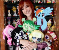 Rainbow Dash and Lauren Faust by DrSyke