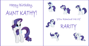 Rarity B-Day Card for my Aunt by rustics