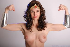 Topless 'Wonder Woman' by PerpetualCreation