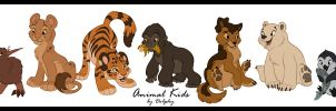 Animal Kids by DolphyDolphiana