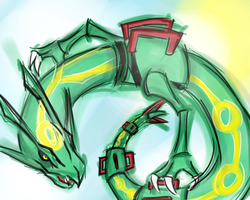 Rayquaza~ quickdraw by k-the-dragonknight