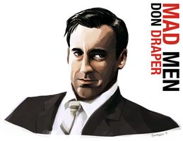 Don Draper Portrait by animagess