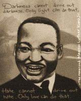 The Reverend Martin Luther King Jr by drawsomestuffs
