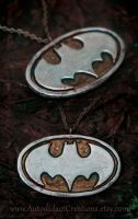Grunge Steampunk Batman Symbol by wizardcopy