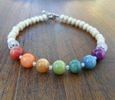 Rainbow River Shell and Quartz Bracelet by spiritualturtle