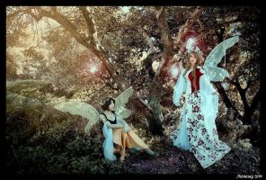 Fairies in the wood by burdy05