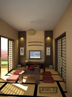 Japanese Living Room by Fakhri-Aulia
