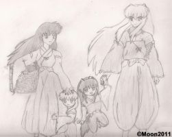 InuYasha's Family by Leena-A