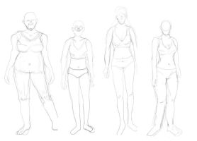 Women Body Shapes by HerbalJabbage