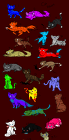 Cat adopts(10 points each) by Nightclaw5938