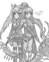 Brave Frontier - Elza and Alice by Confectionism