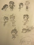 Pencil Chibis by RaydieJaeger