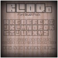 BLOQd Font Brush Pack by Jamaal10