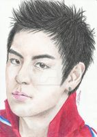 T.O.P in red by Michael1525