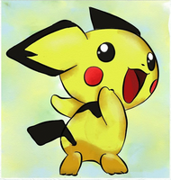 you can't catch meee! Pichu by giodude074