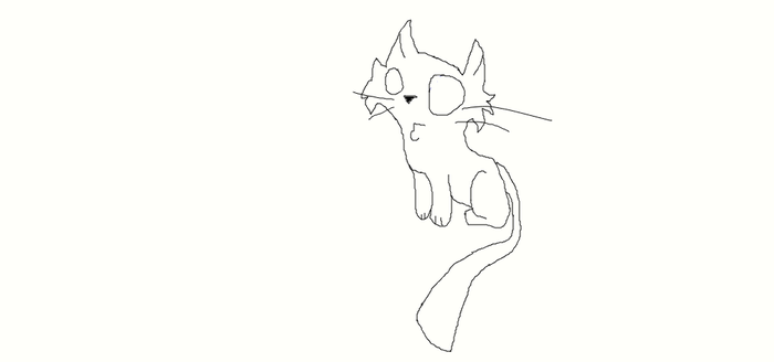 Chibi Cat Lineart! by KoolKays