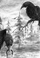 Hugin and Munin by xibalbha