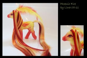 Phoenix Fire - a MLP custom by frozenfilly