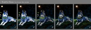 The Starry Wolves - Drawing process of Gaia by ZilvenArt