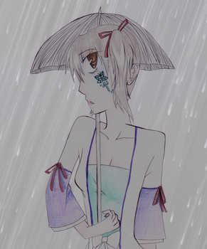 Rain is a distance by 87dragon