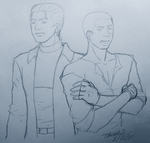 Wesker and Jake by Threshie