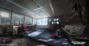 Splinter Cell Blacklist: comm room by nachoyague