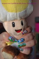 Nail art on Mario by Angelik23