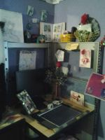 my desk of MAGIC by VendettaOfTheLight