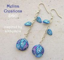 alkhymeia insired earrings 1 by MelinaCreations