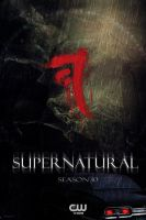 Impala Supernatural Season 10 Fan Made Poster by beata101