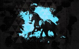 Blue Horse Wallpaper by Seanguy4