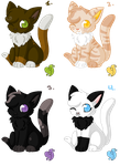 Cat Adoptables by lemoncave