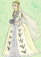 Bree's wedding gown by Selinelle