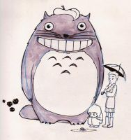 Totoro and Kids by creepstown