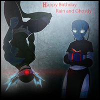 Happy B-day Rain and Ghostly by RoboticMasterMind
