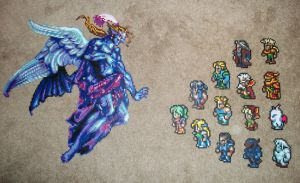 Final Fantasy VI Bead Sprites by DartFeld
