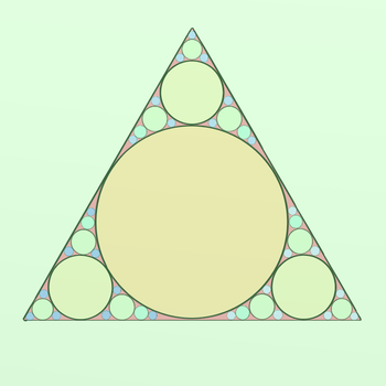 Triangle With Circles by fuyu-oleander