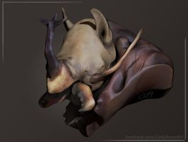 Rhinoceros Beetle Rhino Render by Cryoprime