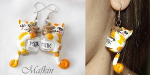 Earrings Cats by Mafkin