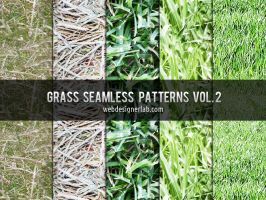 Grass Seamless Patterns Vol. 2 by xara24