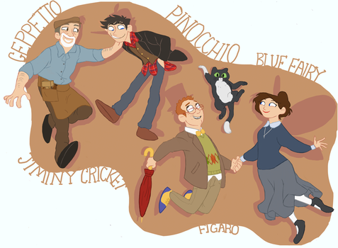 OUAT - Geppetto Family by D00Mk1tty14
