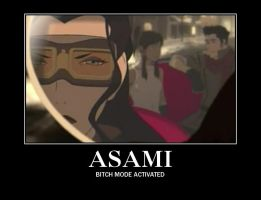 Asami demotivational poster by animekittyslave